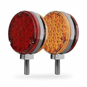 48 LED Pedestal Turn Signal Parking Stop Brake Light International Western Star
