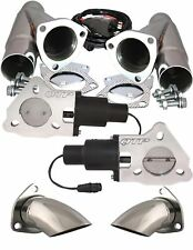 "QTP QTEC45CPK1 Dual 2.25"" Electric Exhaust Cutouts 3-Bolt  Y-Pipes & Turn Downs"