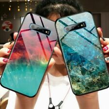 Luxury Tempered Glass Phone Case Cover For Samsung Galaxy S9 S10 Note 10 Plus