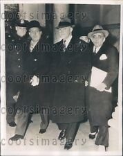 1939 Tammany Hall District Leader Racketeer James Hines w Attorneys Press Photo