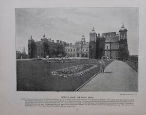 1896 London Aufdruck + Text Hatfield House The South Vorne