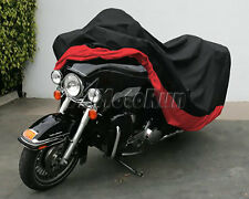 Motorcycle Cover Red Black XXXL Waterproof Bike Outdoor Rain Dust UV Protector
