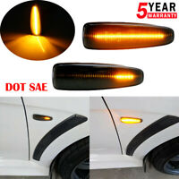 Amber LED Sequential Front Side Marker Lights For Mitsubishi Lancer Evo X Mirage