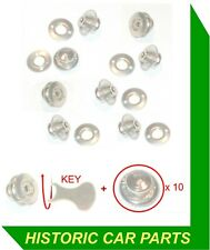 10 x TENAX BUTTONS & KEY for Tonneau Cover on Triumph TR2 1953-55 to (c) TS5255