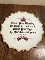 """Vintage COUNT YOUR BLESSINGS Decorative Wall PLate 7"""""""