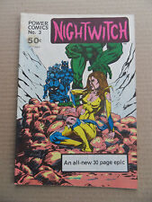 Nightwitch 3 . Power Comics 1977 - FN / VF