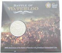 2015 British Battle of Waterloo 200th Anniversary BU £5 Five Pound Coin Pack