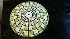 "Vintage Art Deco Pressed Glass Ceiling Light/Lamp Shade 13 1/4"""