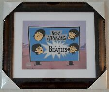 The Beatles Picture Now Appearing Animation Ltd Ed Sericel Coa Framed Nib