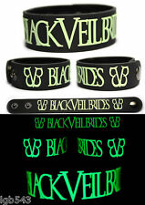 MIP-Black Veil Brides Rubber Wristband Glows in the Dark with adjustable snaps