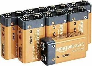 Amazon Basics 9 Volt All-Purpose Alkaline Batteries (8 Pack) NEW EXPEDITED SHIP