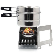 Portable Camping Outdoor Stove Cookware Stainless Steel Cooking Picnic Bowl Pot