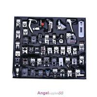 48 PCS Domestic Sewing Machine Foot Presser Feet Kit For Brother Singer Janome
