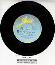 "KC & THE SUNSHINE BAND  Give It Up 7"" 45 rpm vinyl record + juke box title strip"