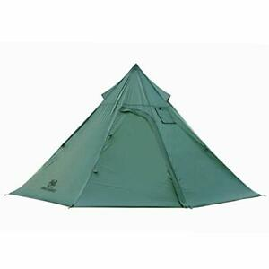 Iron Wall Stove Tent, Lightweight Teepee Camping Tent with Removable