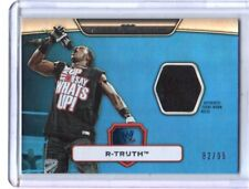 WWE R-Truth 2010 Topps Platinum Blue Event Used Shirt Relic Card SN 82 of 99