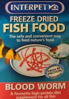 INTERPET FREEZE DRIED FISH FOOD BLOODWORM 4 GRAMS 0755349004386