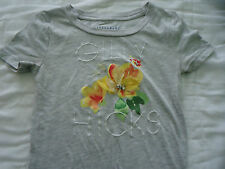 Junior Woman's size XS Extra Small Gilly Hicks Gray Jeweled Flower top