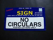 NEW NO CIRCULARS  Posted Letters Sign - 20 x 6cm Perfect stick on Letter box