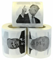 Donald Trump Novelty Funny Toilet Paper Gag Gift, Set of 3 Rolls TP Humor New!
