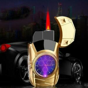 Unusual Car Lighters Gas Clock Shape Butane Lighters Jet Torch / Turbo Metal