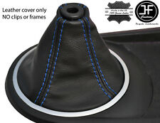 BLUE STITCH FITS HYUNDAI TIBURON COUPE 2002-2008 GEAR GAITER REAL LEATHER
