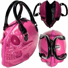New KREEPSVILLE 666 Skull Collection Handbag Pink Gothic Punk Emo Fashions