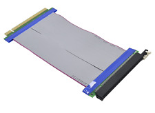 16X Riser Card PCI-E PCI-Express Flexible Ribbon Extender Extension Cable Cord