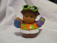 Fisher Price Little People Tourist Boy with Suitcase, Phone, and Sunglasses