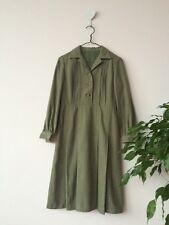 Cuello De Lana Verde Vintage vestido de invierno a medida talla XS en muy buena condición