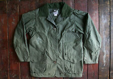 FILSON GREEN WAXED COTTON UPLAND JACKET HUNTING FISHING COUNTRY WOMENS SMALL