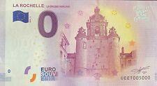 BILLET 0  EURO LA ROCHELLE HORLOGE  FRANCE   2018  NUMERO 5000 DERNIER BILLET