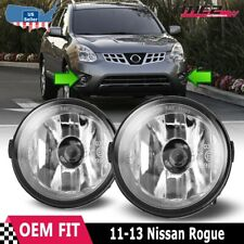 For Nissan Rogue 11-13 Factory Bumper Replacement Fit Fog Lights Clear Lens