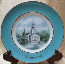 Avon Christmas Plate Series Second Edition ''Country Church''Made Exclusively fo