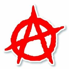 ANARCHY STICKER, ANARCHIST SYMBOL STICKER, ANARCHY VINYL STICKER DECAL (A-241)