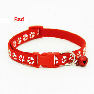 Adjustable   Nylon Cat Safety Collar with Bell for Cat Kitten small dog