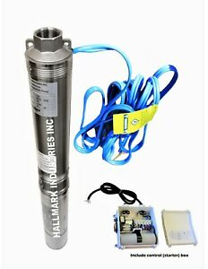 """Submersible Pump, Deep Well, 4"""", 3HP/230V, 625', all S.S. Hallmark Industries"""