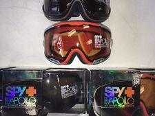 Spy Apollo Ski Snowboard Goggles: Black OR Orange models - ShIp Same Day; NEW!!