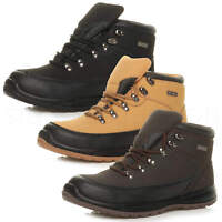 Mens leather steel toe cap work ppe safety ankle boots hi-top trainers size