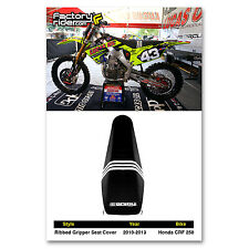 2010-2013 HONDA CRF 250 Black TLD RIBBED SEAT COVER BY Enjoy MFG