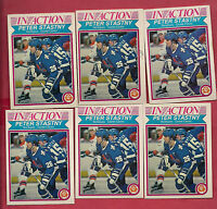 6 X 1982-83 OPC # 293 NORDIQUES  PETER STASTNY IN ACTION   CARD