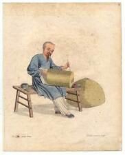 China-Chinesen-Laternenmaler-Laternen-Lampen Kupferstich Dadley 1800 Ethnologie