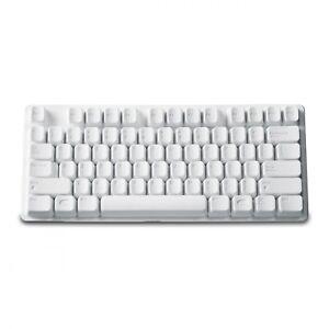 Lustige Tastatur Silikonform für Schokolade oder Eiswürfel Weiß