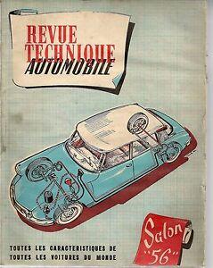 REVUE TECHNIQUE AUTOMOBILE 126 RTA 1956 SALON DE L'AUTOMOBILE 1956