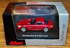 SCHUCO Diecast Mercedes-Benz SLS AMG Coupe Red 1/87 HO