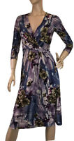 DIANA FERRARI SIZE XS FLORAL FIXED WRAP DRESS
