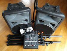 Complete PA Setup Live Sound Package USA JBL Eon Mackie DFX-6 Shure SM58 ProLine