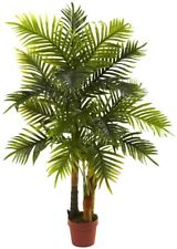 Artificial Plant 4 ft. Areca Palm Tree Real Touch Feel with Plastic Container