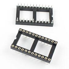 10Pcs 2.54mm Pitch 24 Pin DIP Round Pin Solder IC Socket Adaptor Wide