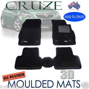 To suit Holden CRUZE 2009 - 2016 3D Black Carpet Floor Mats